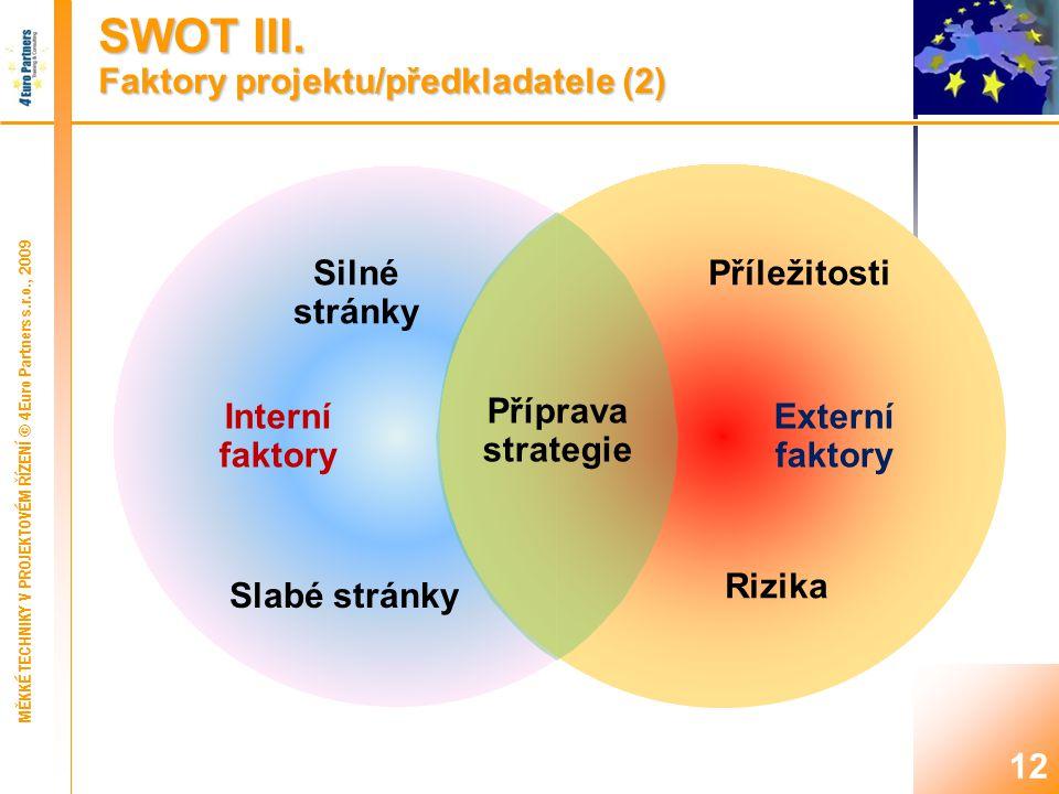 SWOT IV. Průběh analýzy (1)