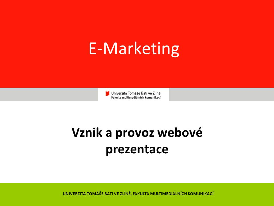 Vznik a provoz webové prezentace