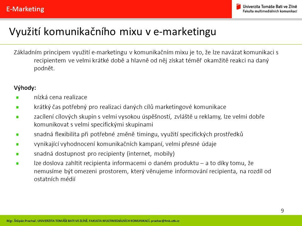 Využití komunikačního mixu v e-marketingu