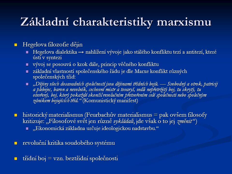 Základní charakteristiky marxismu