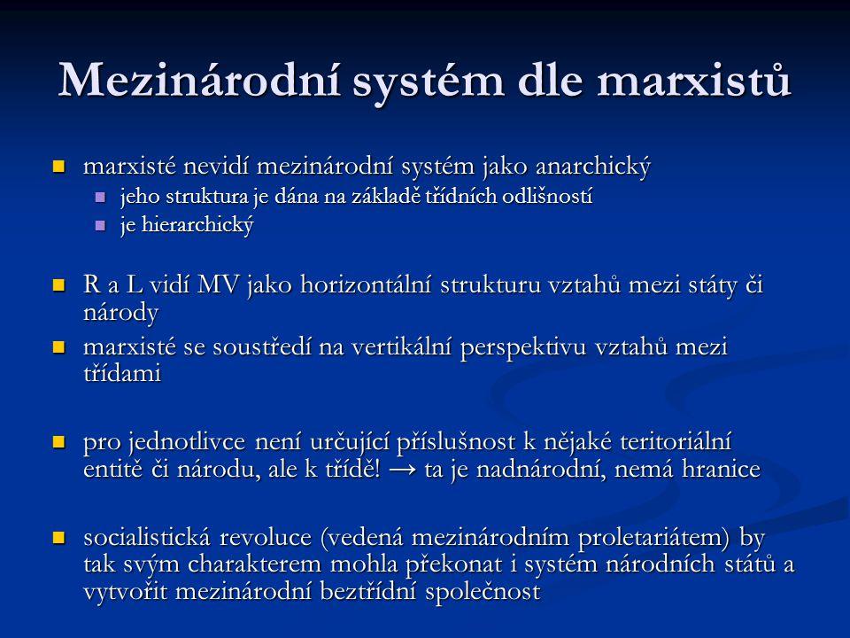 Mezinárodní systém dle marxistů