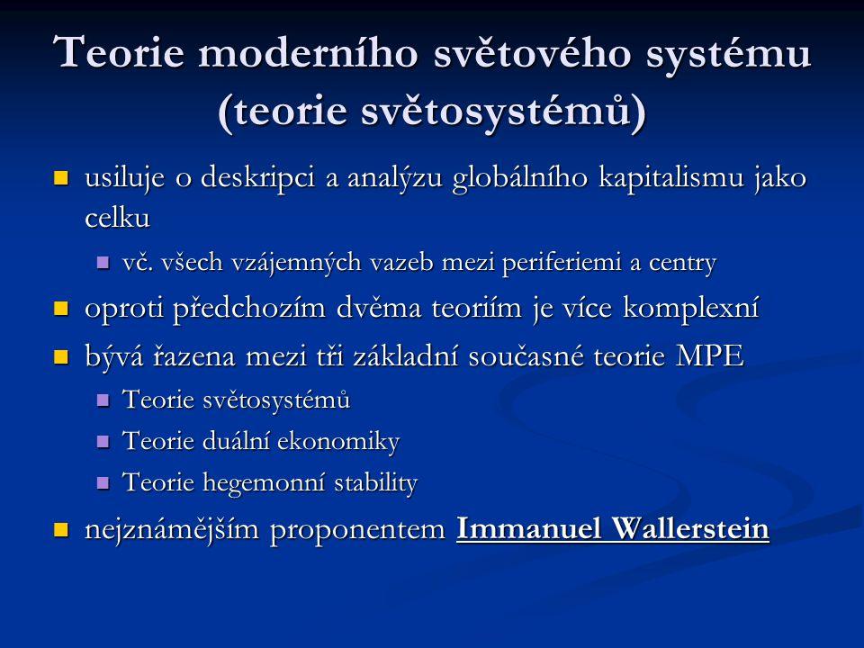 Teorie moderního světového systému (teorie světosystémů)