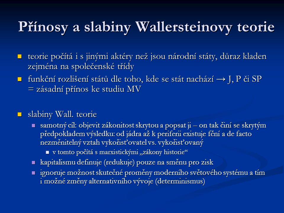 Přínosy a slabiny Wallersteinovy teorie