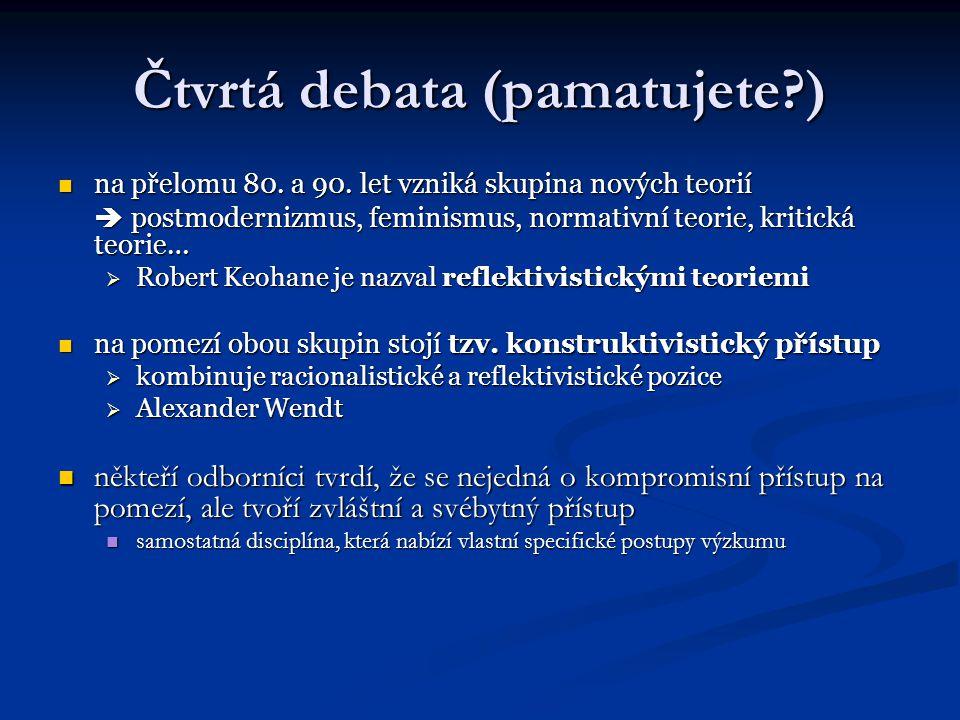 Čtvrtá debata (pamatujete )
