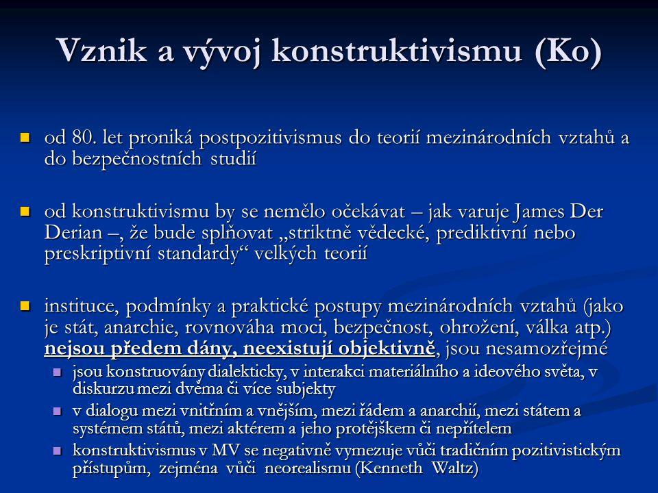 Vznik a vývoj konstruktivismu (Ko)