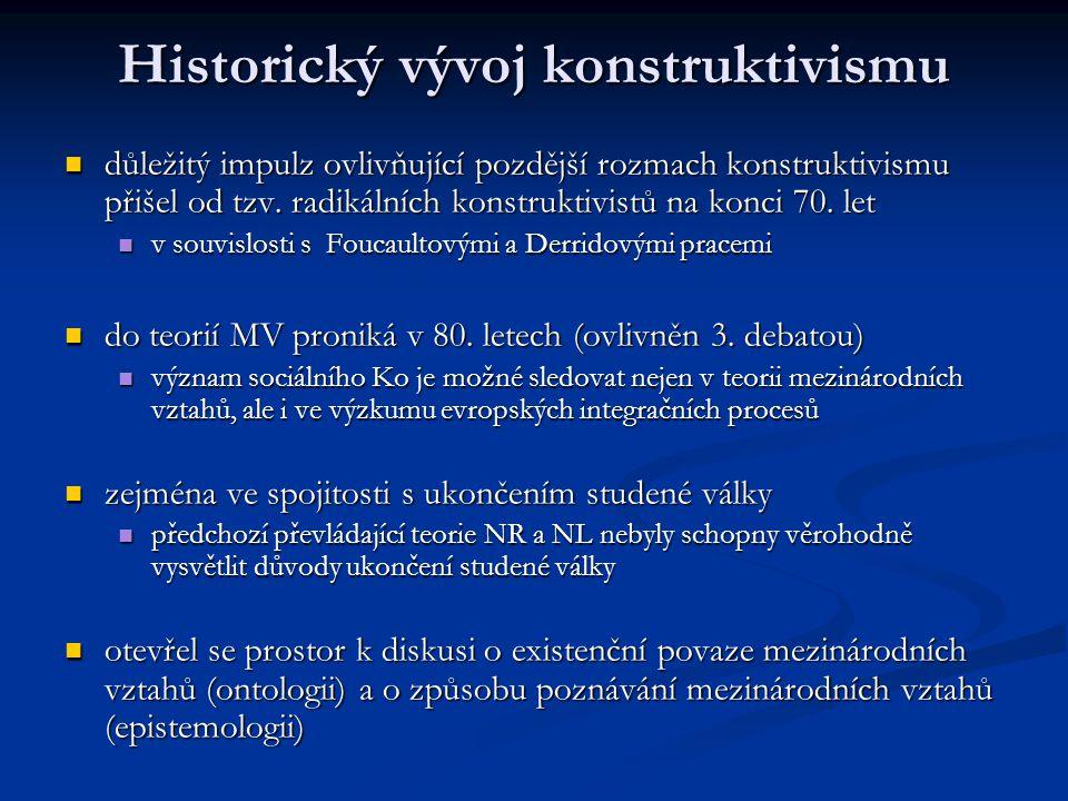 Historický vývoj konstruktivismu
