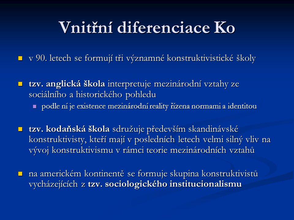 Vnitřní diferenciace Ko