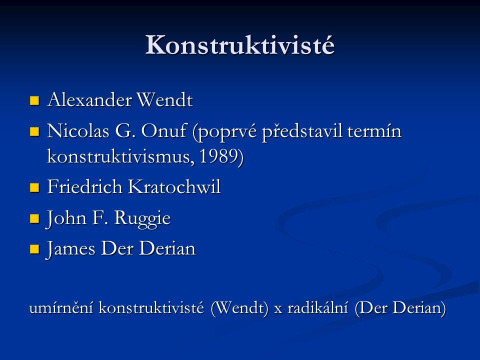 Konstruktivisté Alexander Wendt
