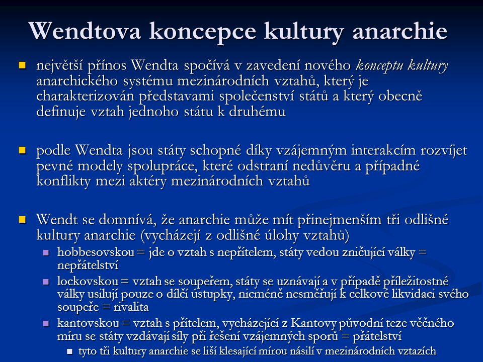 Wendtova koncepce kultury anarchie