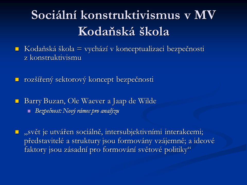 Sociální konstruktivismus v MV Kodaňská škola