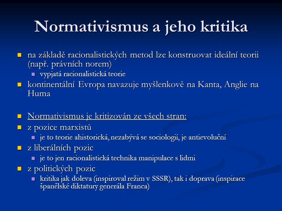 Normativismus a jeho kritika