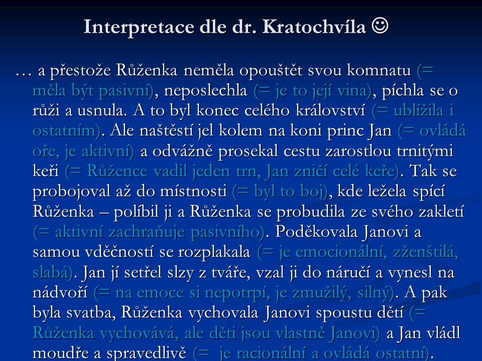 Interpretace dle dr. Kratochvíla 