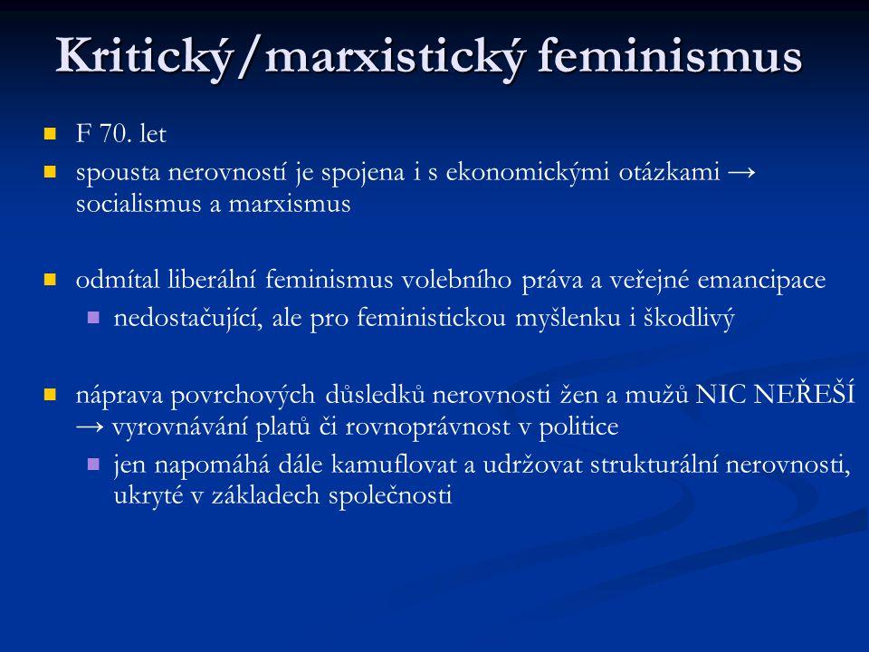 Kritický/marxistický feminismus