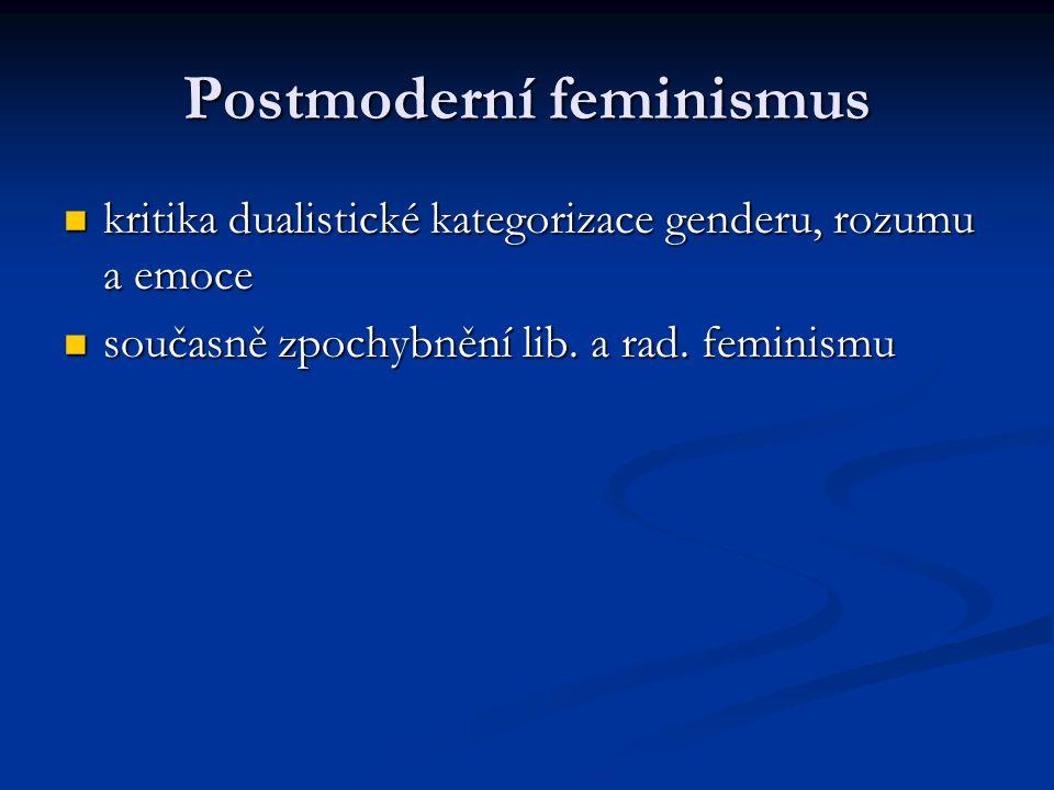 Postmoderní feminismus