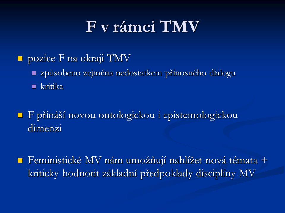F v rámci TMV pozice F na okraji TMV
