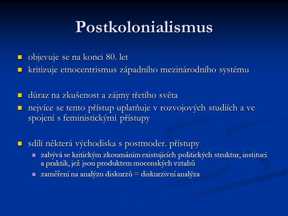 Postkolonialismus objevuje se na konci 80. let