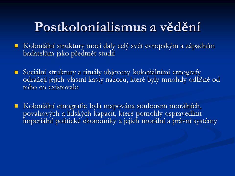 Postkolonialismus a vědění