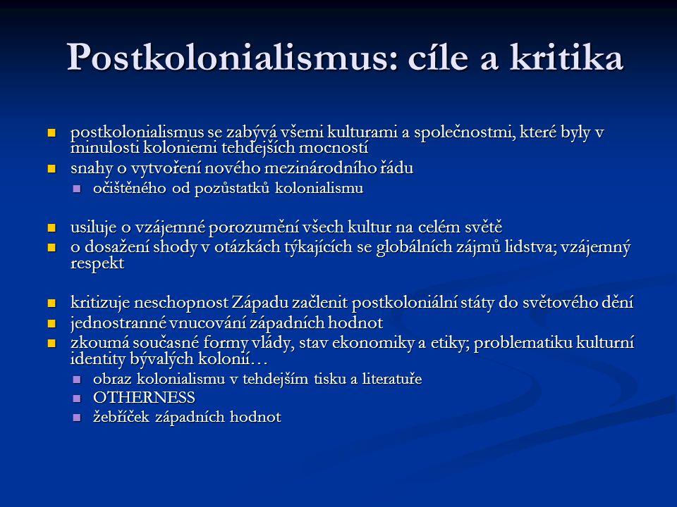 Postkolonialismus: cíle a kritika