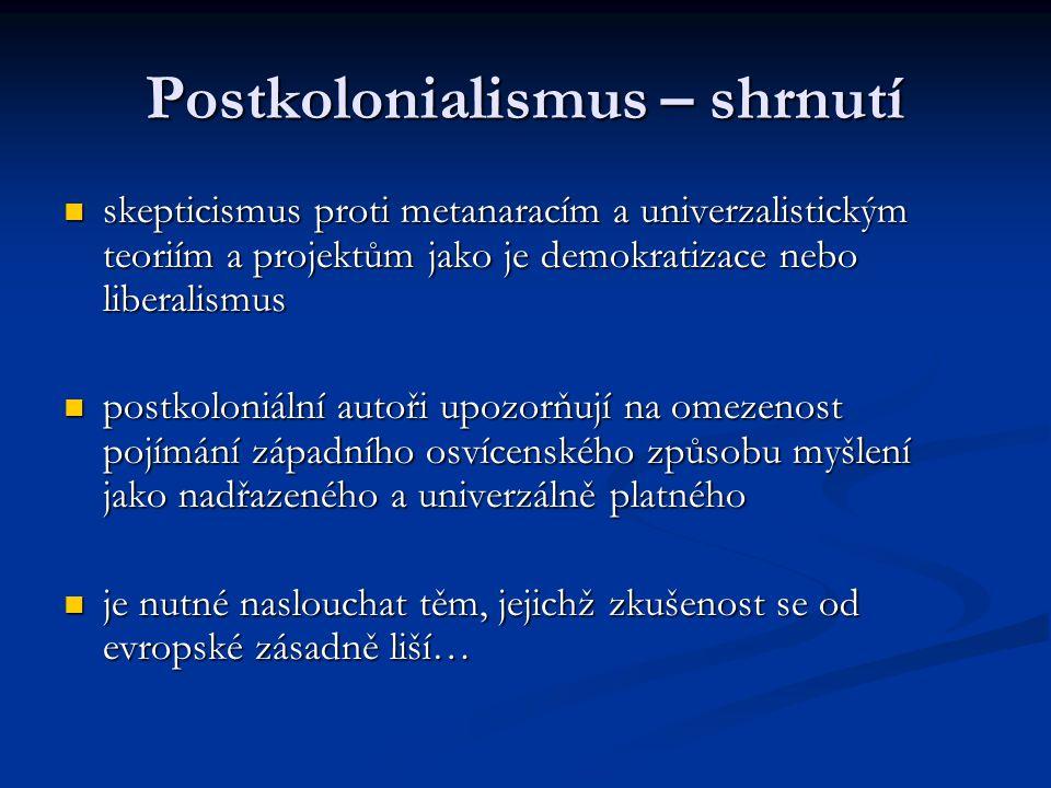 Postkolonialismus – shrnutí