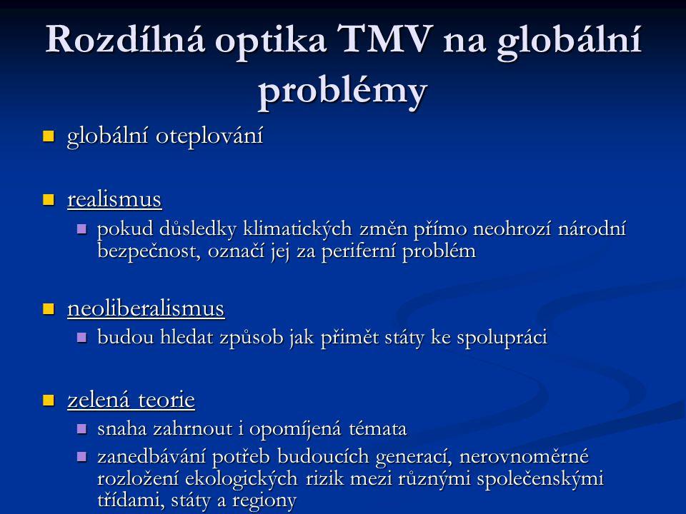 Rozdílná optika TMV na globální problémy
