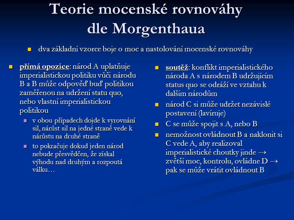 Teorie mocenské rovnováhy dle Morgenthaua