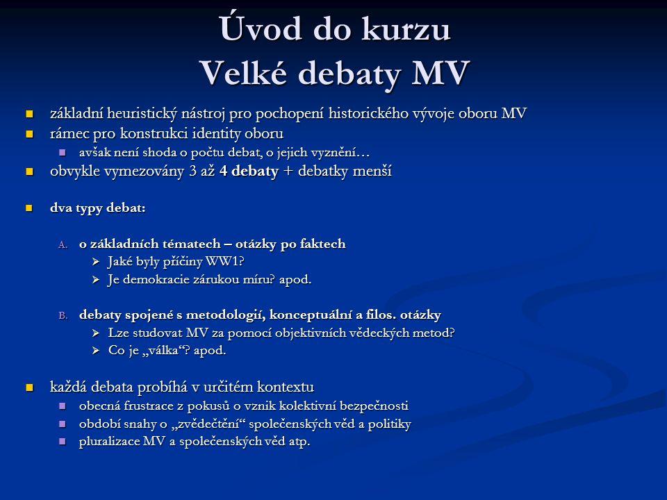Úvod do kurzu Velké debaty MV