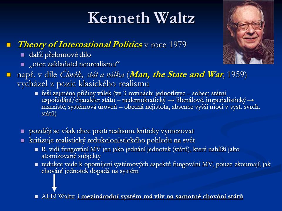 Kenneth Waltz Theory of International Politics v roce 1979