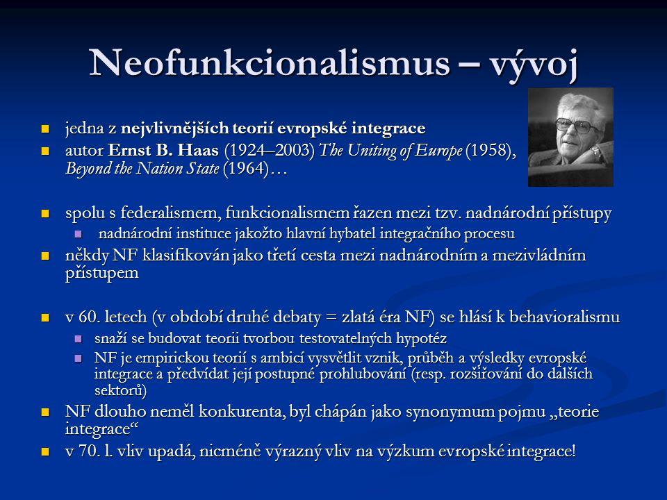 Neofunkcionalismus – vývoj
