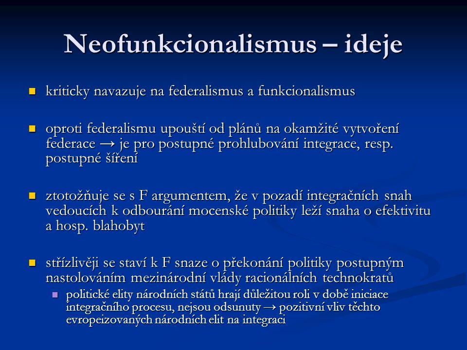 Neofunkcionalismus – ideje