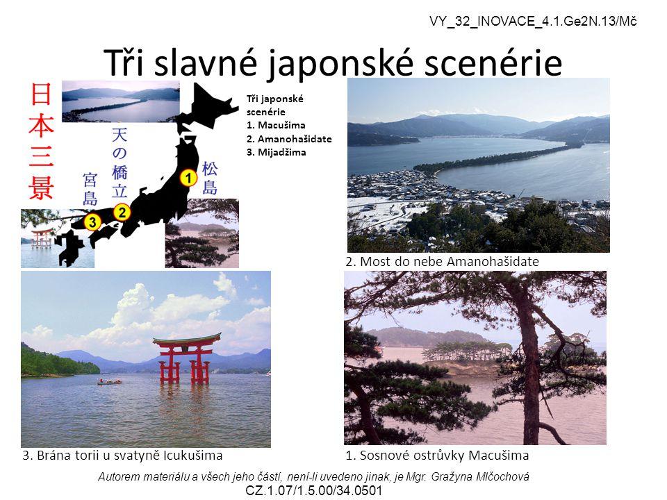 Tři slavné japonské scenérie