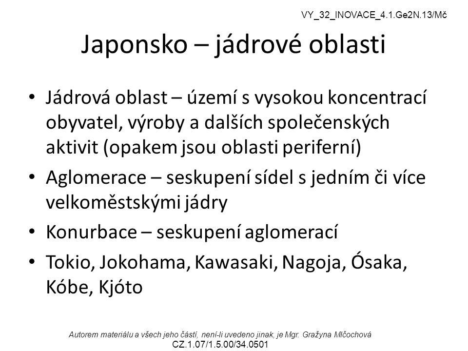 Japonsko – jádrové oblasti