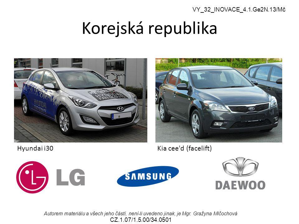 Korejská republika Hyundai i30 Kia cee d (facelift)