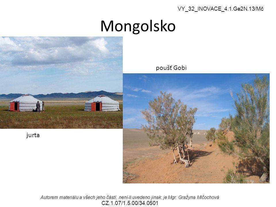 Mongolsko poušť Gobi jurta