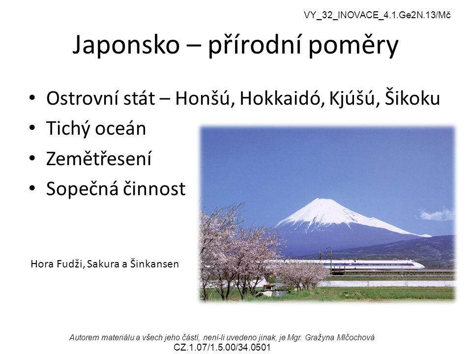 Japonsko – přírodní poměry