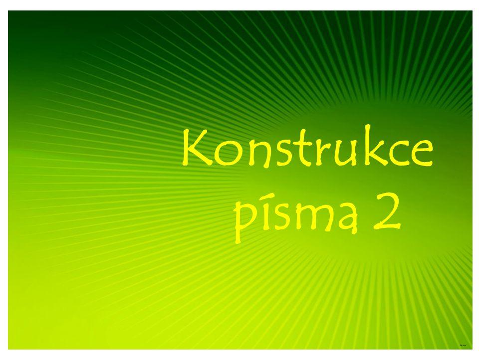 Konstrukce písma 2 ©c.zuk