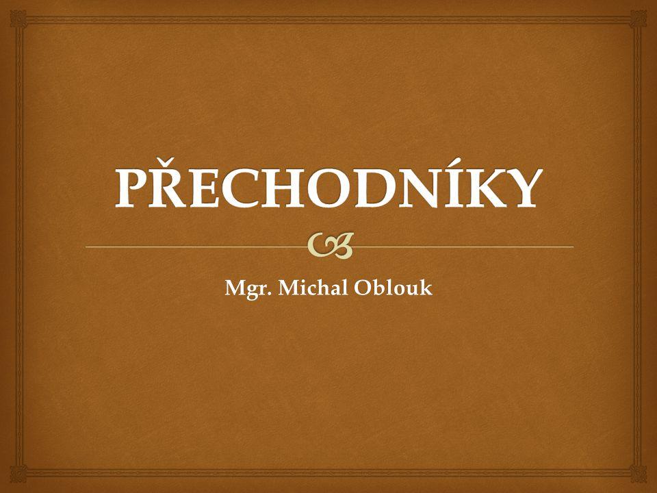 PŘECHODNÍKY Mgr. Michal Oblouk