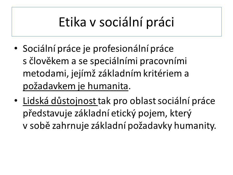 Etika v sociální práci