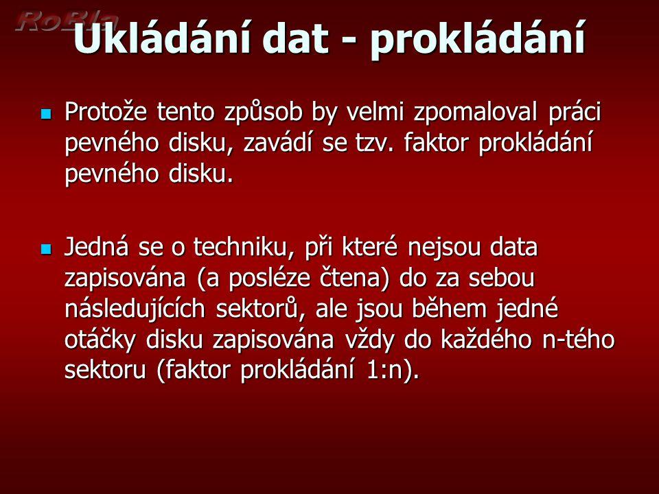 Ukládání dat - prokládání