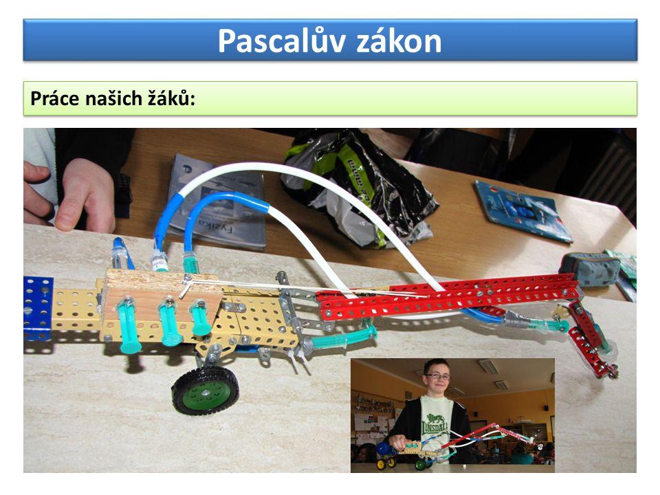 Pascalův zákon Práce našich žáků: