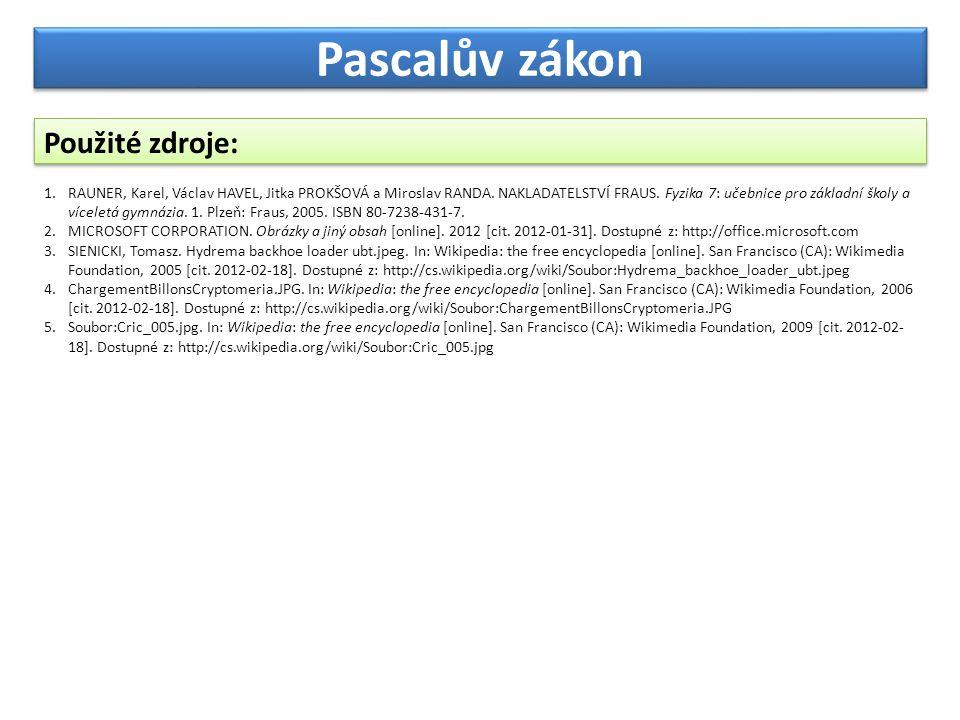 Pascalův zákon Použité zdroje: