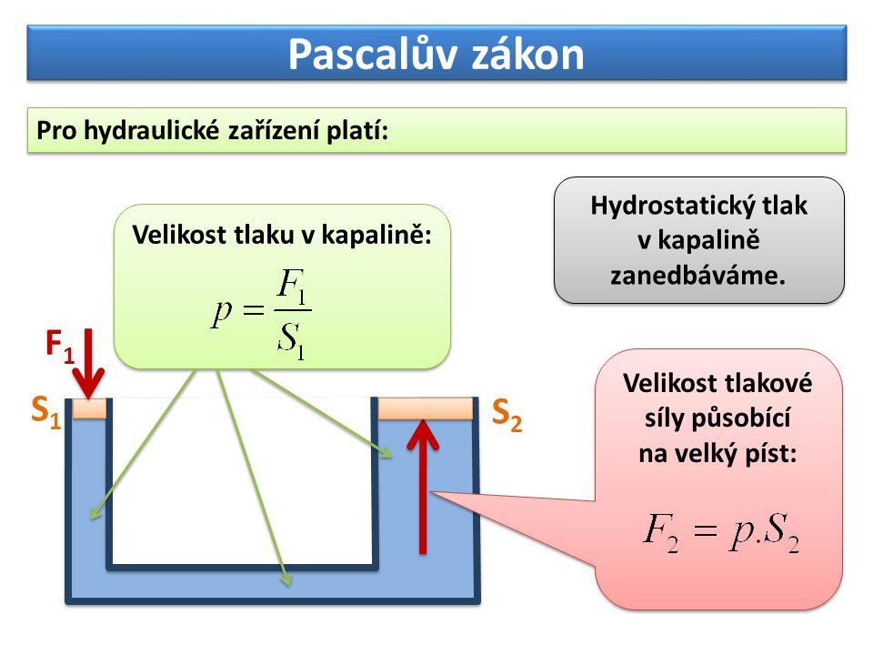 Hydrostatický tlak v kapalině zanedbáváme.