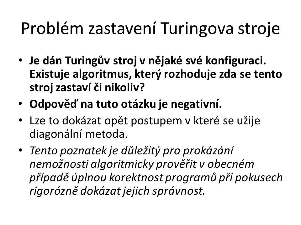 Problém zastavení Turingova stroje