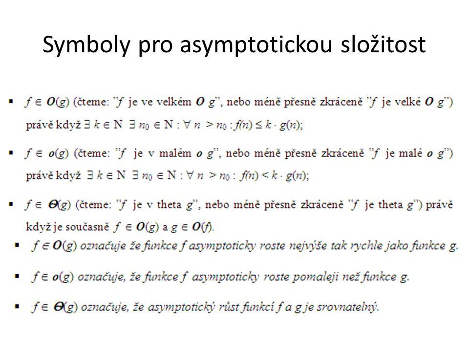 Symboly pro asymptotickou složitost