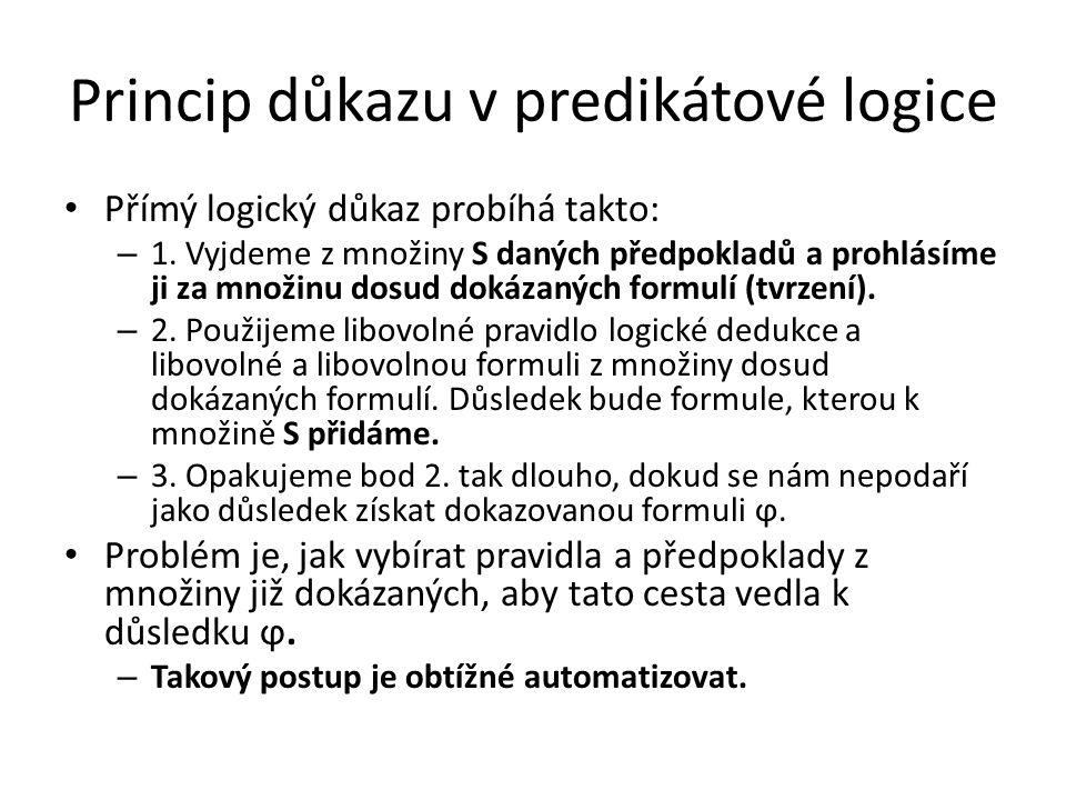 Princip důkazu v predikátové logice