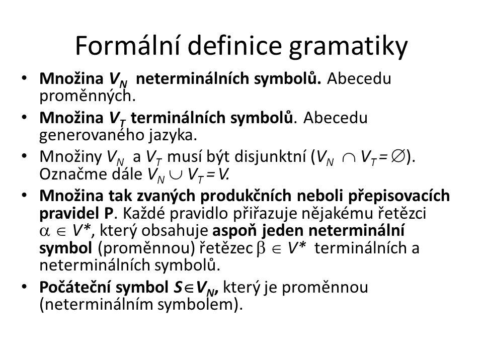Formální definice gramatiky
