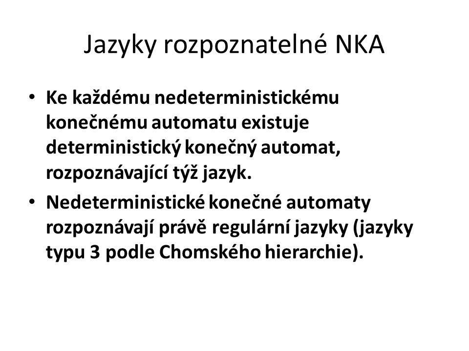 Jazyky rozpoznatelné NKA