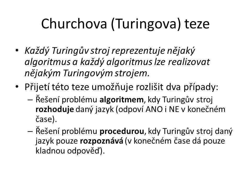 Churchova (Turingova) teze