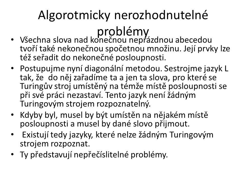 Algorotmicky nerozhodnutelné problémy