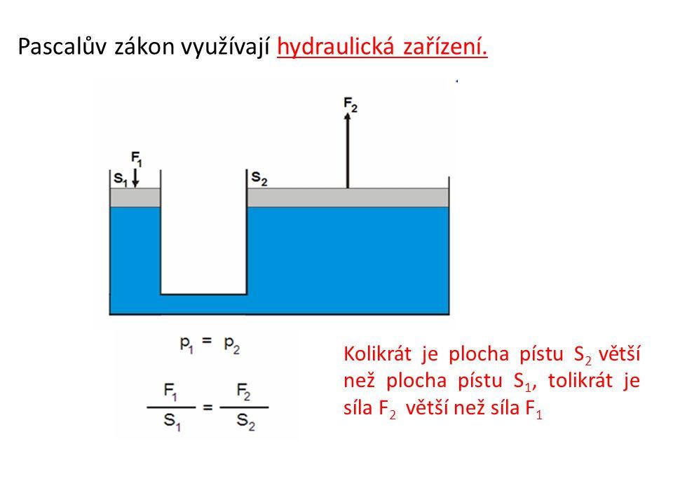 Pascalův zákon využívají hydraulická zařízení.