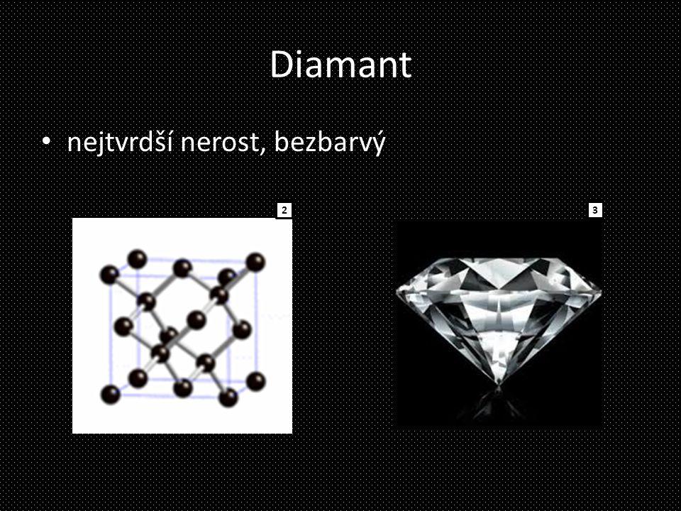 Diamant nejtvrdší nerost, bezbarvý 2 3